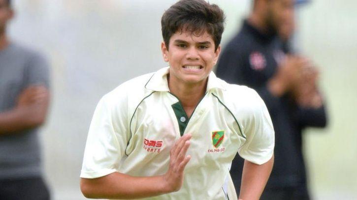 Arjun Tendulkar took 12 balls to take his maiden wicket