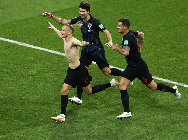 Croatia face England in the semis