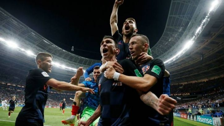 Croatia play France in the FIFA World Cup final