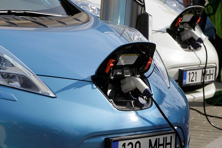 Electric cars charging