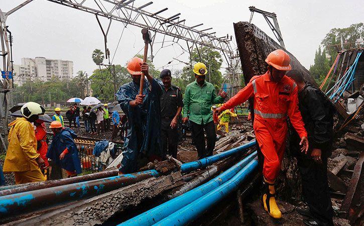 Heavy Rain And Bridge Collapse Bring Mumbai To A Standstill