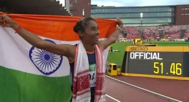 Hima Das clocked 51.46 seconds