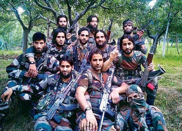 Hizbul Mujahideen Releases Burhan Squad-like Group Photo