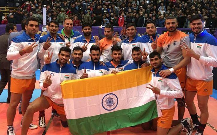 India Thrash Iran in kabaddi