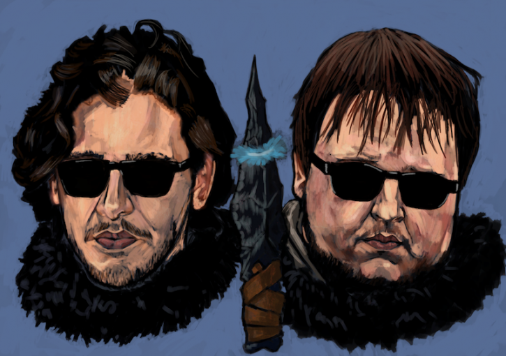 Jon Snow and Samwell Tarly from Game Of Thrones