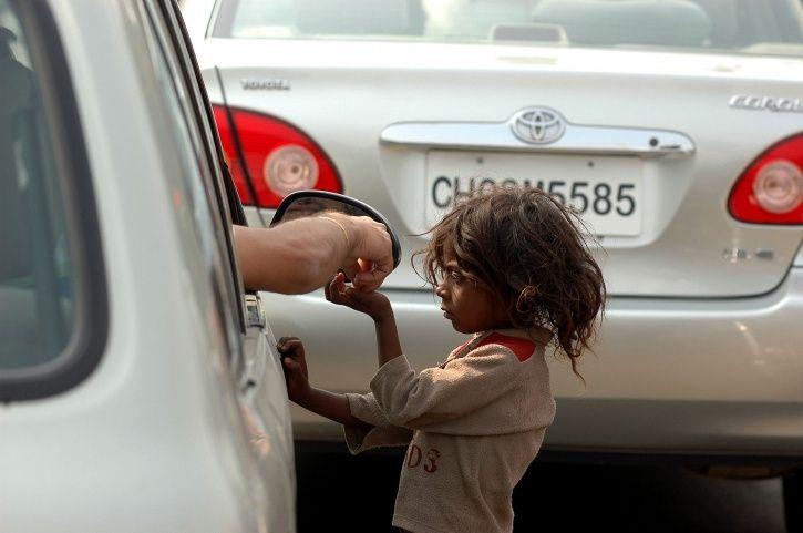 kids begging road trafficking app track children