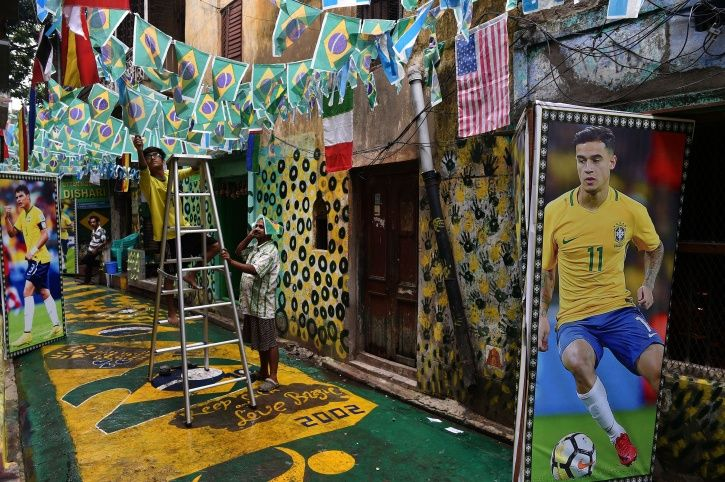 During Football World Cup, Residents of Sonagachi Paint Red