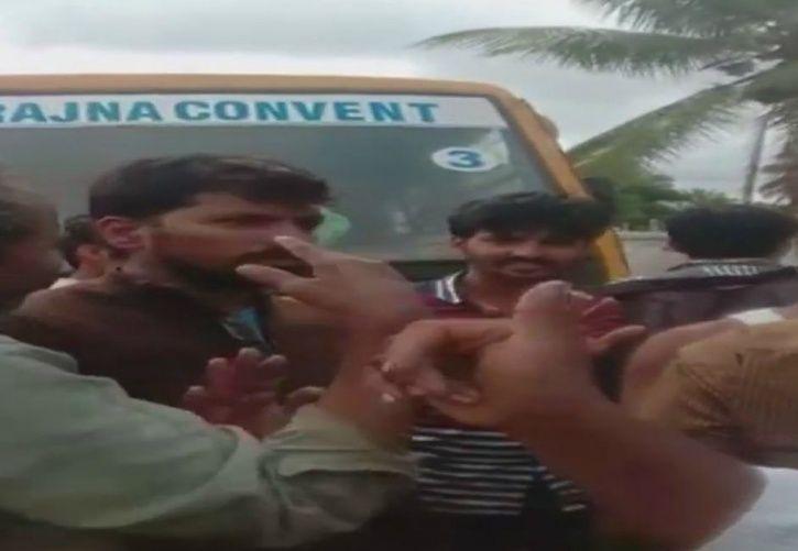 Man Meeting His Own Son Beaten Up By Mob In Karnataka