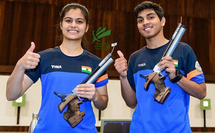Manu Bhaker And Anmol Jain Shoot Gold
