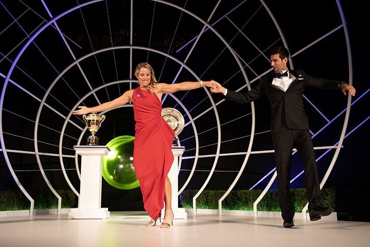 Novak Djokovic And Angelique Kerber Rock The Dance Floor In Style