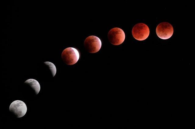 red moon, lunar eclipse, longest in the century