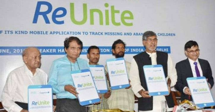 ReUnite app, Kailash Satyarthi, Suresh Prabhu, Missing children