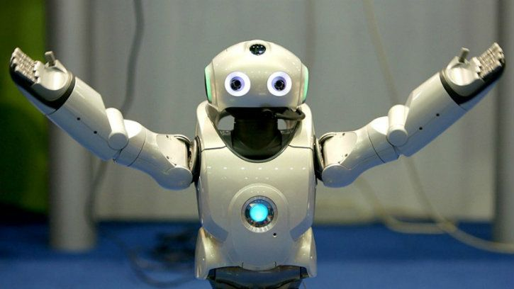 robot ai saying how are you technology