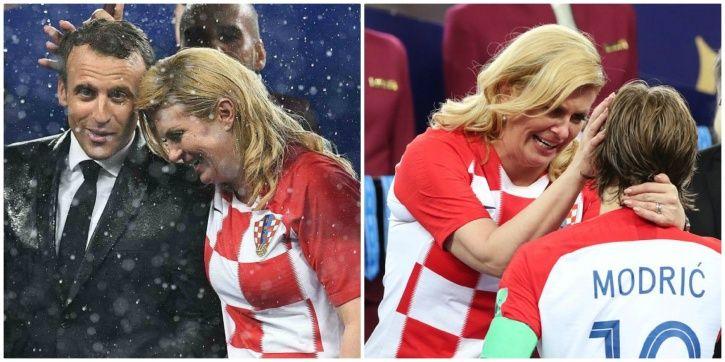 The Croatian President is her football team
