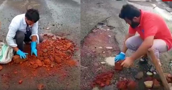 These Two Men From Mumbai Are Fixing Potholes & Rough Patches Every day To Save Lives