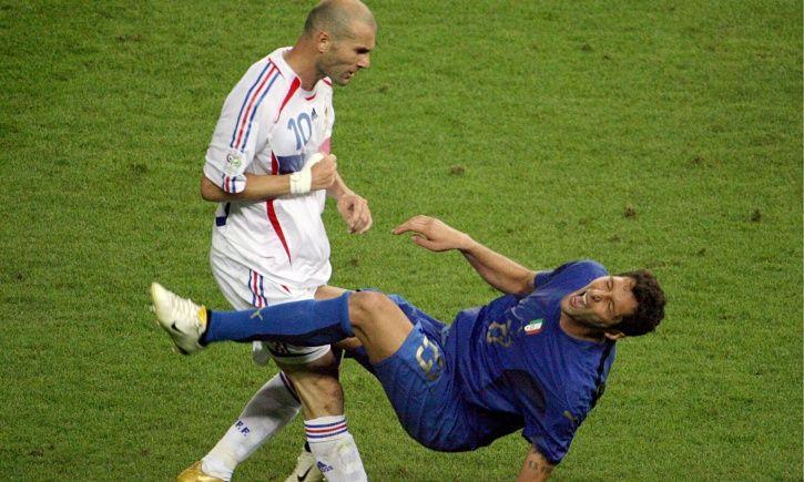 Zinedine Zidane got a red card.