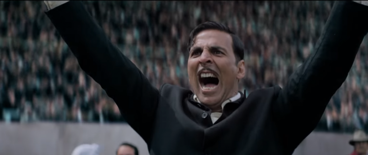 A picture of Akshay Kumar from the trailer of Gold.