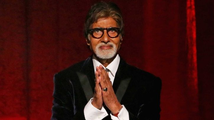 A picture of Amitabh Bachchan who is donating Rs 1 crore to army widows and farmers.