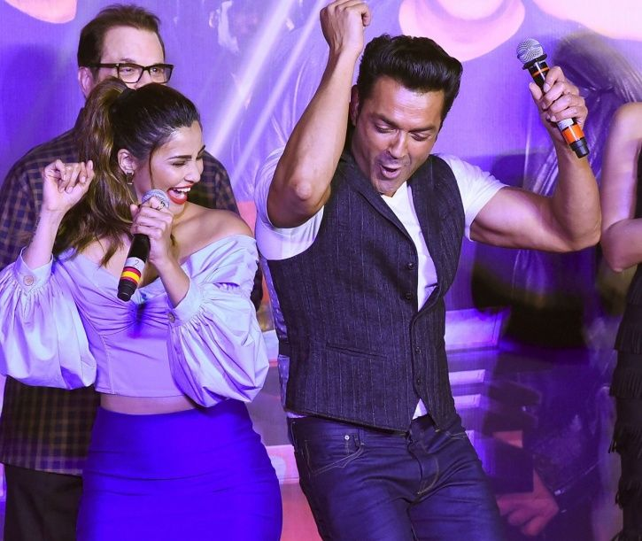 A picture of Bobby Deol with Race 3 team.