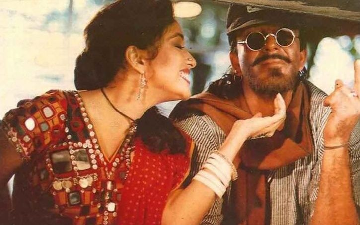 A picture of Madhuri Dixit and Sanjay Dutt.