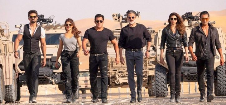 A picture of Race 3 cast including Salman Khan, Anil Kapoor and Bobby Deol.