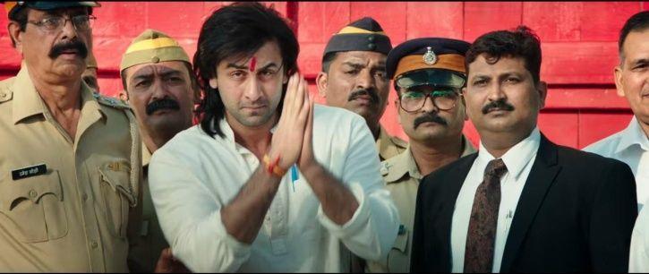 A picture of Ranbir Kapoor as Sanjay Dutt in his biopic Sanju.