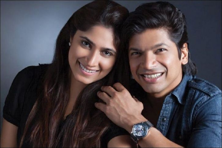 A picture of Shaan and his wife.
