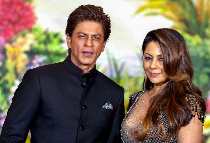 A picture of Shah Rukh Khan and Gauri Khan.