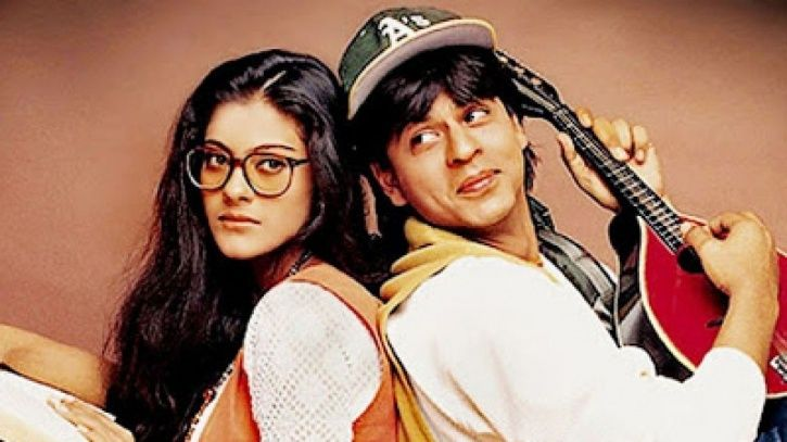 A picture of Shah Rukh Khan and Kajol from DDLJ