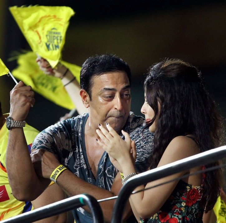 A picture of Vindu Dara Singh was allegedly involved in betting and Spot-fixing scam of IPL 2013.