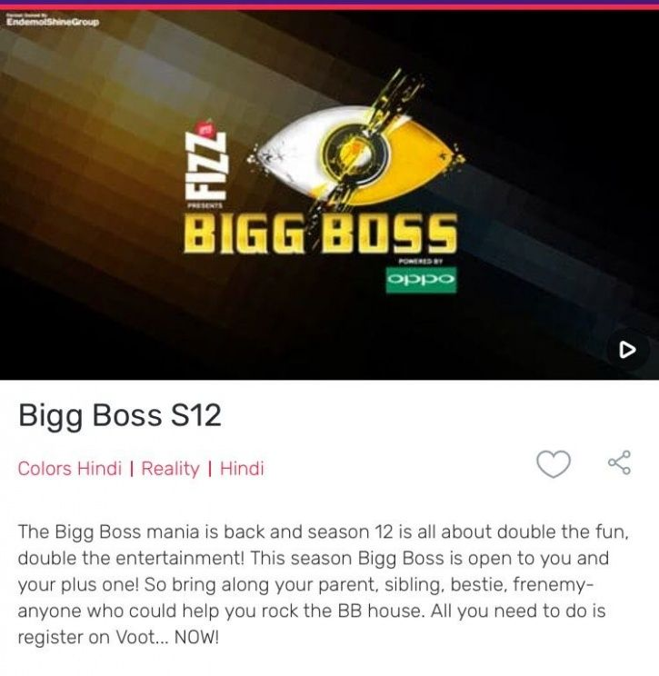 Bigg Boss 12 will have couples as contestants.