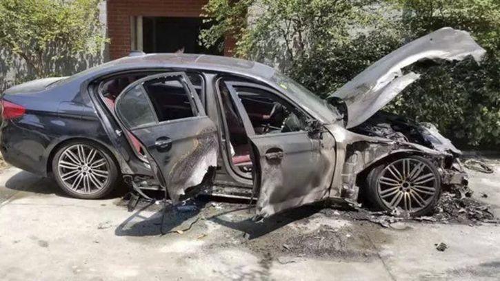 BMW burnt china