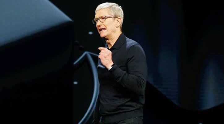 CEO Tim Cook at Apple WWDC 2018 keynote address