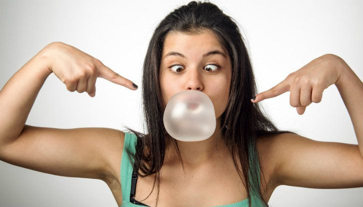 chewing gum or bubble gum