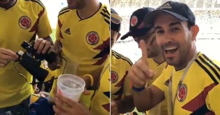 Colombia fan sacked after smuggling alcohol in binoculars during World Cup