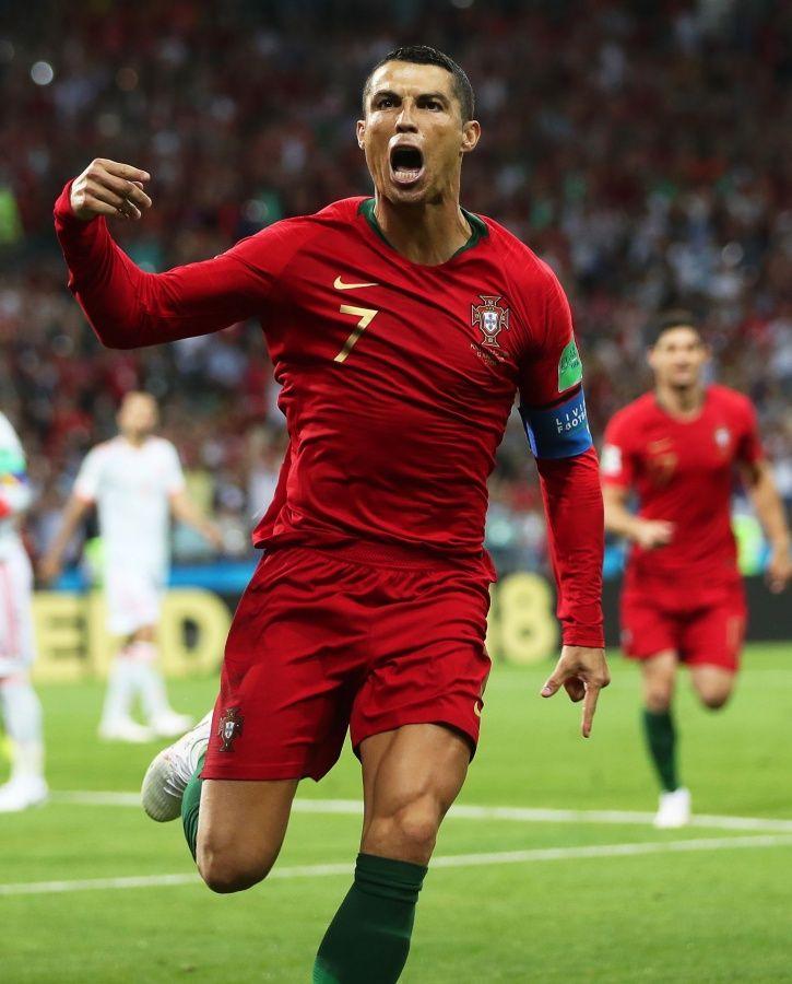 Cristiano Ronaldo scored a hat-trick vs Spain