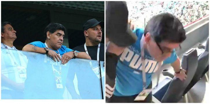 Diego Maradona saw Argentina win 2-1