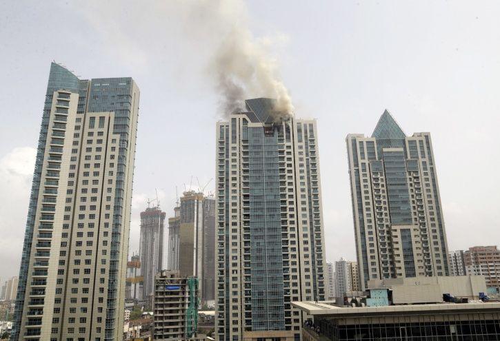 high rise buildings, worli, mumbai fire