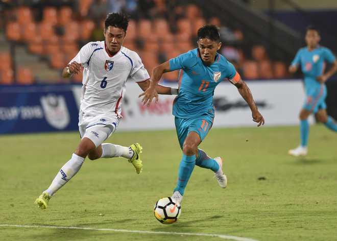 India beat Chinese Taipei 5-0 under Sunil Chhetri