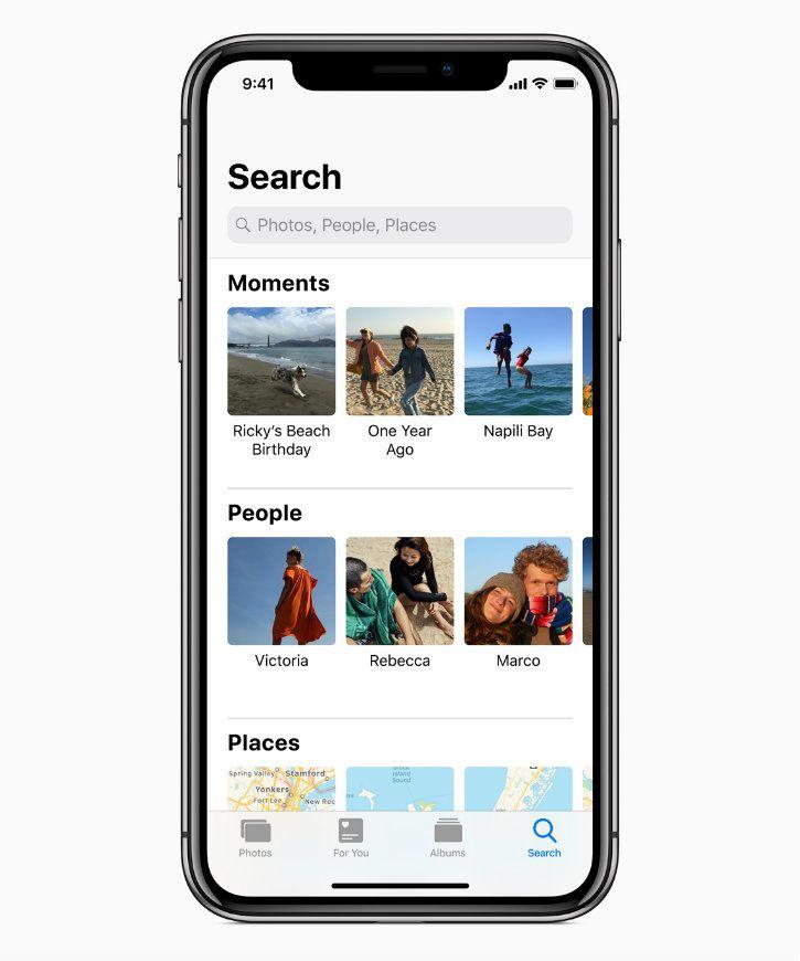 iOS 12 photos update