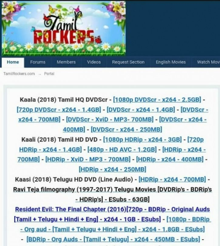 Kaala Leaked Online