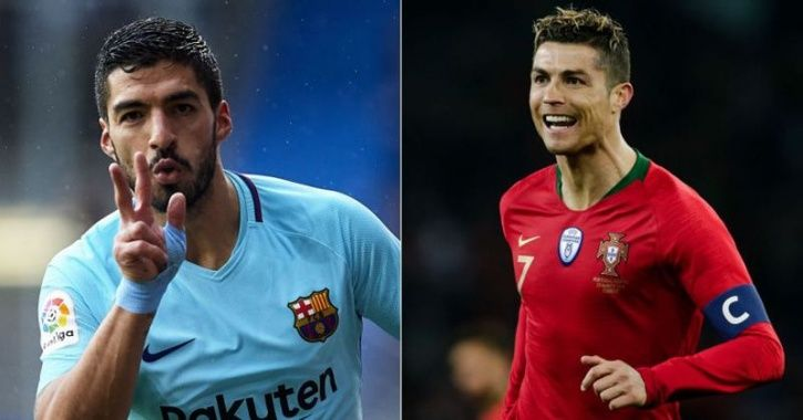 Luis Suarez and Ronaldo