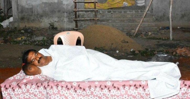M MLA sleeps in crematorium  in chase away fear  among workers