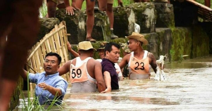 Manipur IAS Officer Leads Flood Relief Efforts In Waist-Deep Water, Draws Praise On Twitter