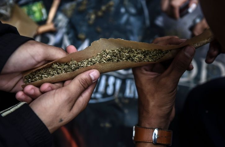 marijuana from truck in Delhi