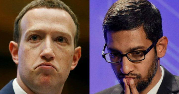 mark zuckerberg and sundar pichai facebook google user data privacy