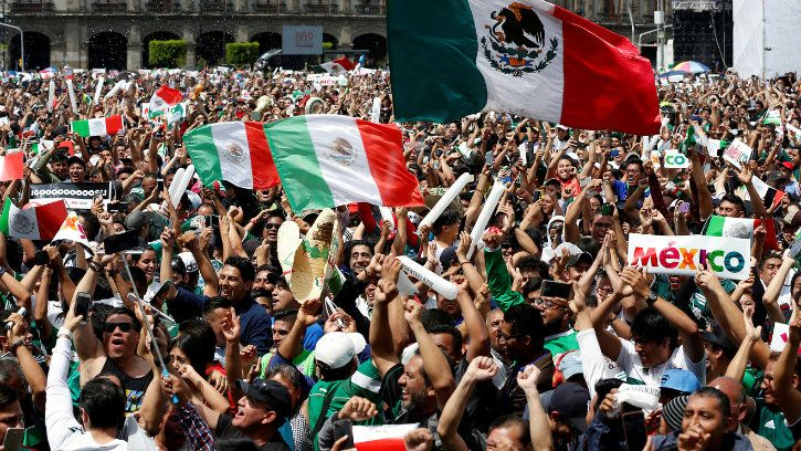 mexico fan jumped so high after defeating germany they caused a fake earthquake