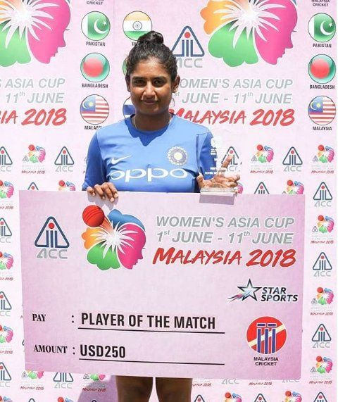 Mithali Raj deservedly won the Woman of the Match award after her 97 helped Indian women