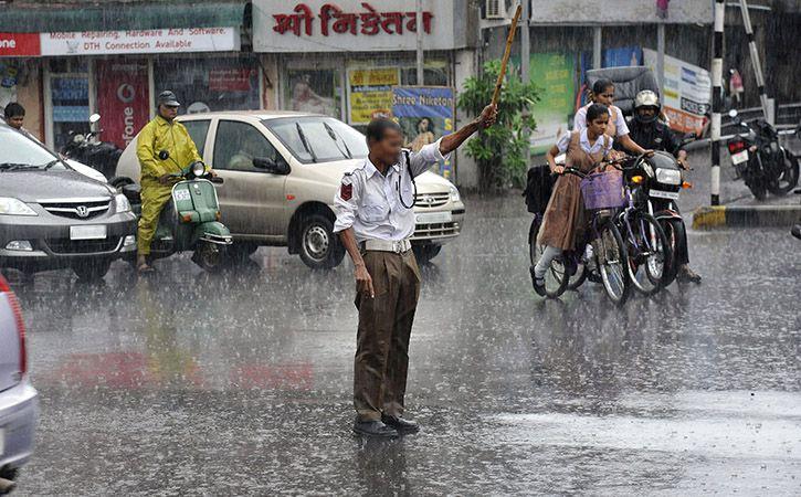 Mumbai Traffic Cop Who Stood In Rain For 2 Long Hours