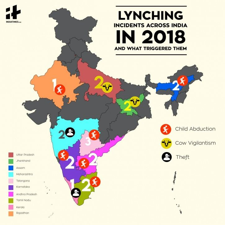 P lynching incidents across India in 2018 and what triggered them